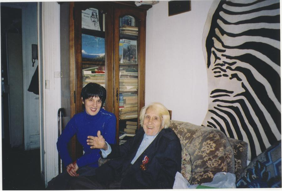 Nazareth Peshdikian and me in his Paris apartment, 2003