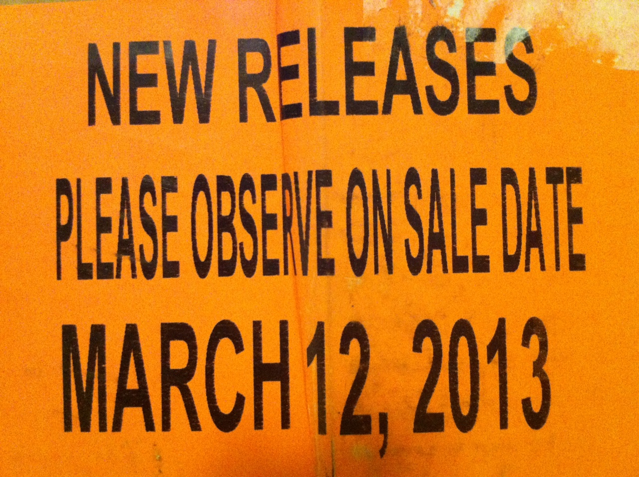 On sale date March 12, 2013