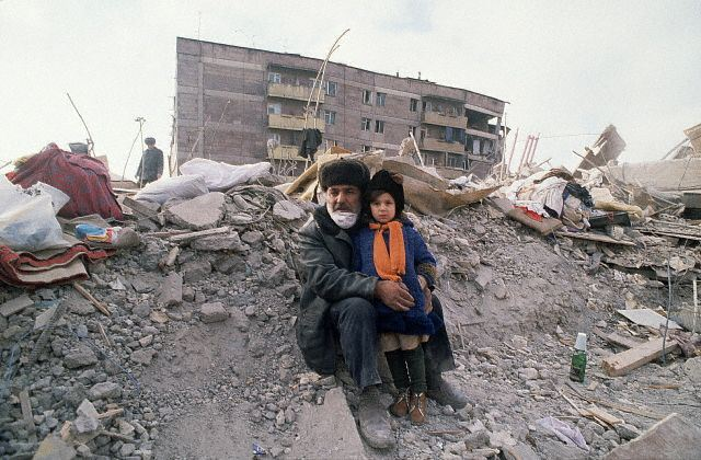 Armenia Earthquake Destruction