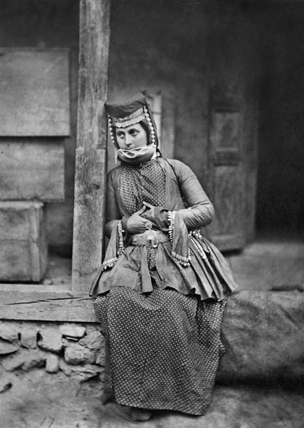 Young woman in Vartashen Armenia, 1883.