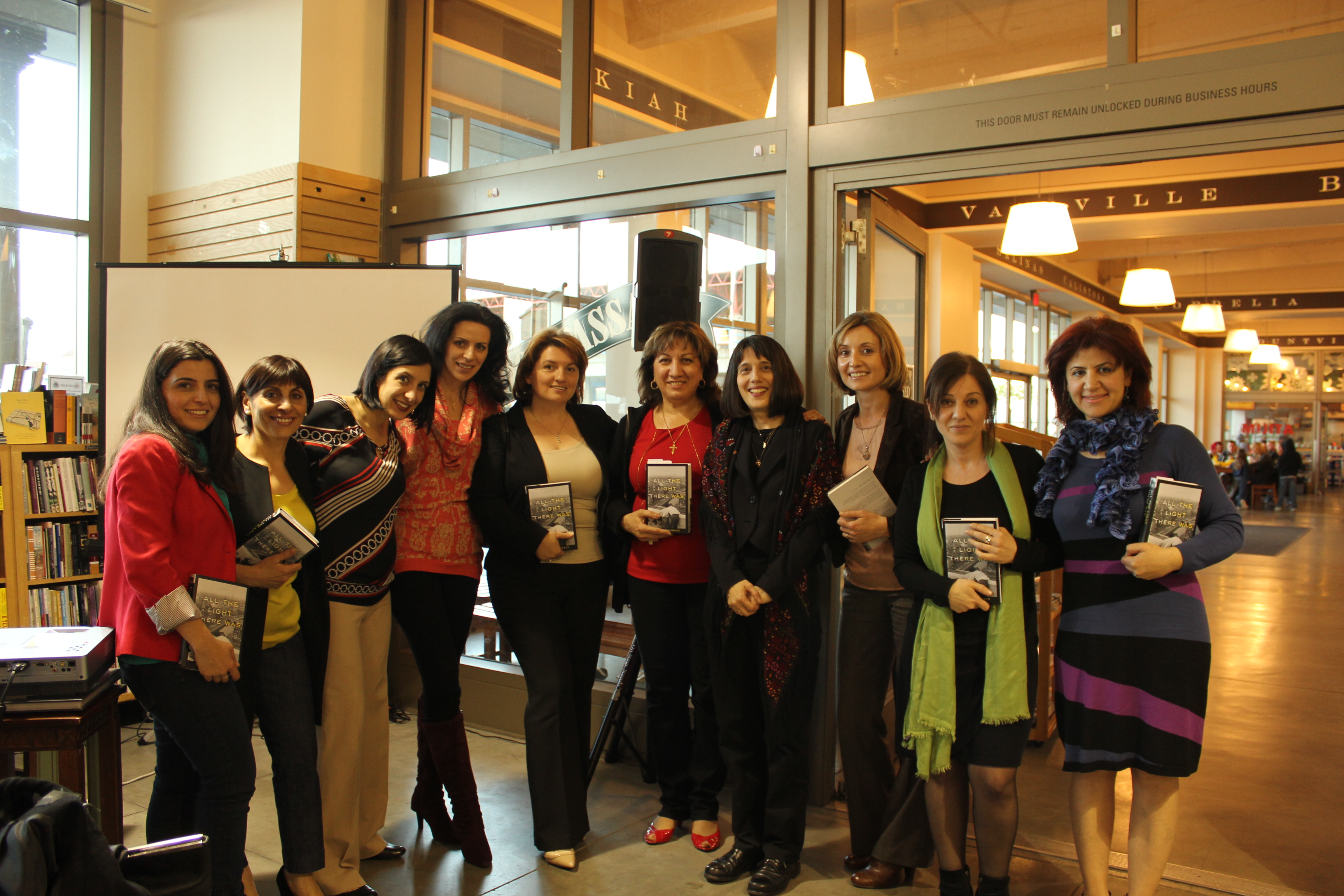 With the AIWA San Francisco Chapter at Book Passage in the Ferry Building