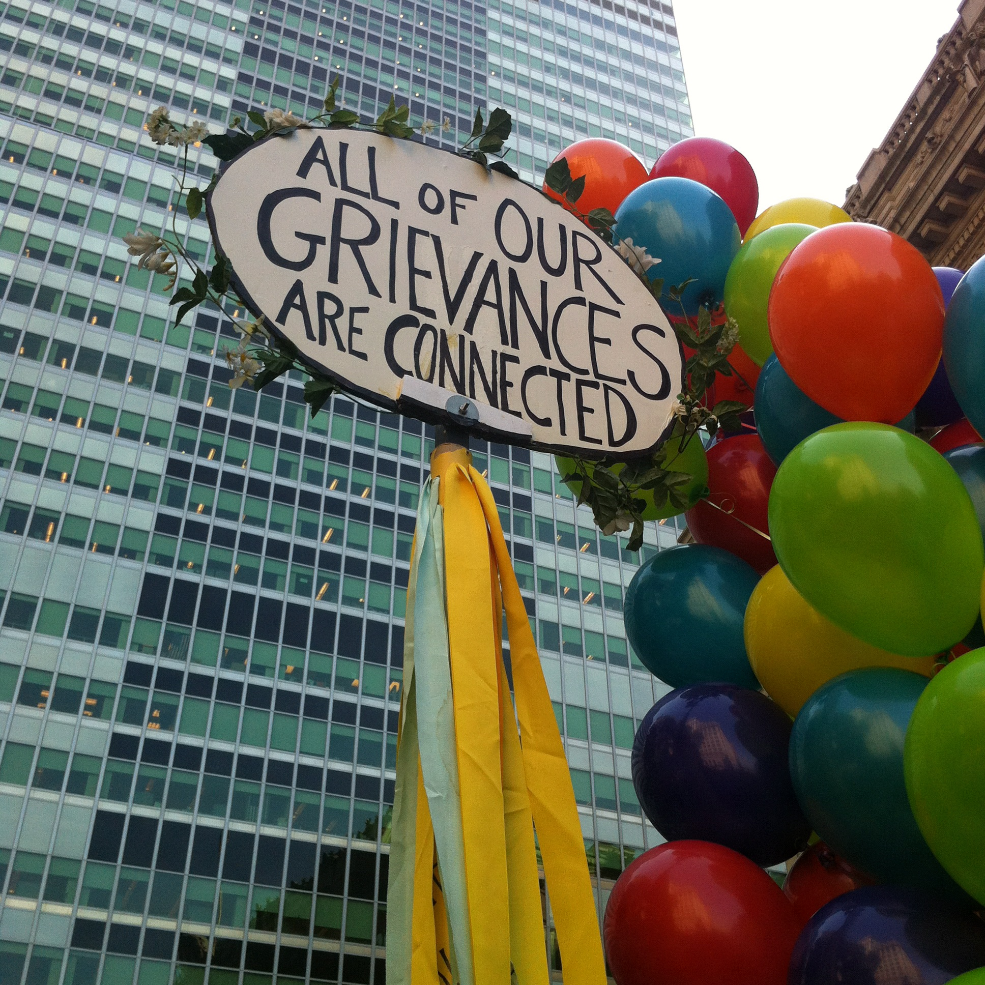 All of Our Grievances Are Connected (Occupy Wall Street Protest in 2012)