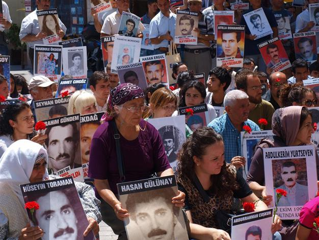 The Saturday Mothers at  Galatasaray Square in Istanbul