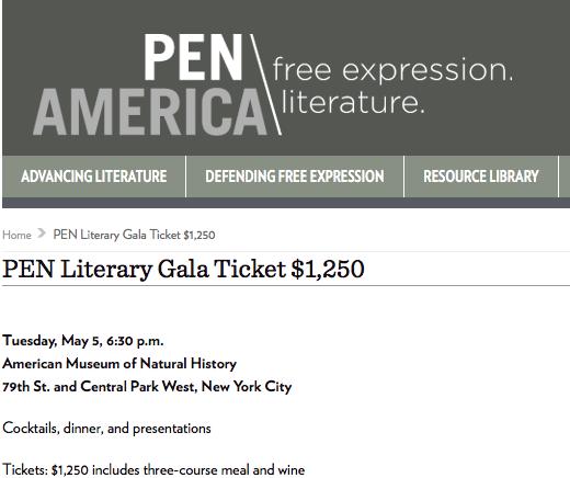 PEN Literary Gala